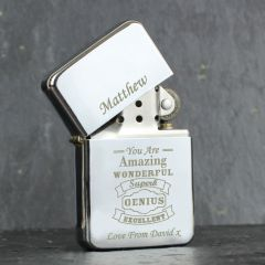 Personalised Vintage Typography Design Lighter