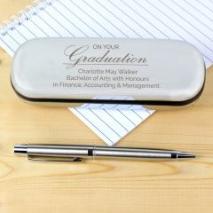 Personalised Graduation Pen and Box Gift Set