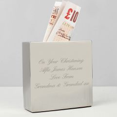 Personalised Square Design Money Box
