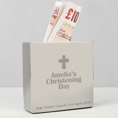Personalised Cross Square Design Money Box