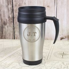 Personalised Monogram Design Travel Mug