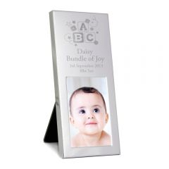 Personalised ABC Small Silver Photo Frame 3x2