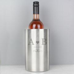 Personalised Monogram Design Stainless Steel Wine Cooler