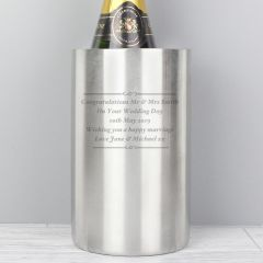 Personalised Add Any Message Wine Cooler