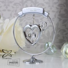 Personalised Crystocraft Heart Keepsake Ornament