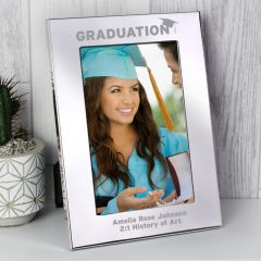 Personalised Graduation Silver Photo Frame 6x4