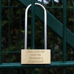 Personalised Add Any Message Padlock