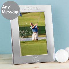 Personalised Golf Silver Photo Frame 6x4