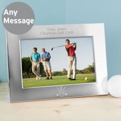 Personalised Golf Landscape Silver Photo Frame 6x4