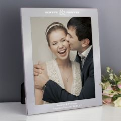 Personalised Always & Forever Silver Photo Frame 10x8