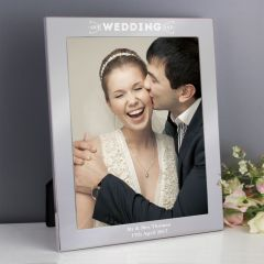 Personalised Our Wedding Day Silver Photo Frame 10x8