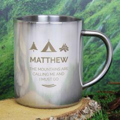 Personalised 'Wilderness Wanderer' Stainless Steel Mug