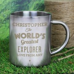 Personalised 'The World's Greatest' Stainless Steel Mug