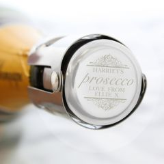 Personalised Prosecco Stainless Steel Bottle Stopper