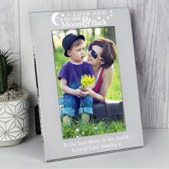 Personalised To the Moon and Back... Silver Photo Frame 6x4