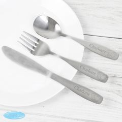 Personalised Tiny Tatty Teddy 3 Piece Stainless Steel Cutlery Set