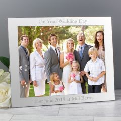 Personalised Landscape Silver Photo Frame 10x8