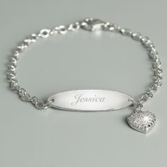 Personalised Children's Sterling Silver & Cubic Zirconia Bracelet
