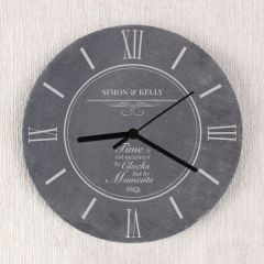 Personalised Moments Slate Clock