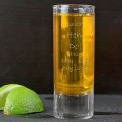 Personalised Engraved Design Shot Glass