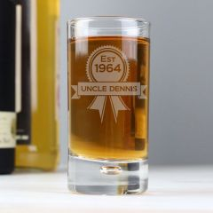 Personalised Established Rosette Bubble Design Shot Glass