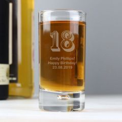 Personalised Age Bubble Design Shot Glass