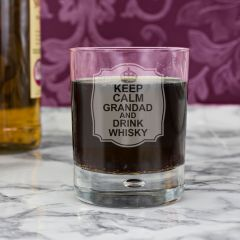 Personalised Keep Calm Tumbler Bubble Bottom Glass