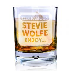 Personalised The Famous... Tumbler Bubble Bottom Glass