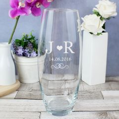 Personalised Monogram Design Bullet Vase