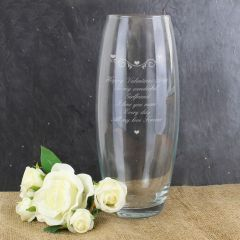 Personalised Hearts & Swirls Glass Bullet Vase