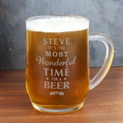 Personalised Wonderful Time For A Beer... Glass Beer Tankard