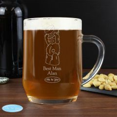 Me To You Personalised Engraved Male Wedding Tankard