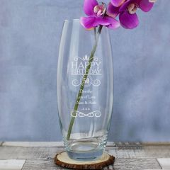 Personalised Birthday Glass Bullet Vase