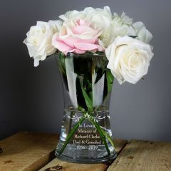 Personalised Loving Sentiments Glass Vase