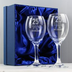 Personalised Years As... Wine Glass Gift Set