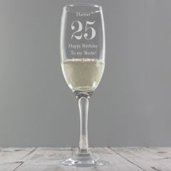 Personalised Birthday Age Champagne Flute