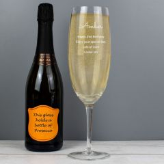 Personalised Giant Champagne Flute