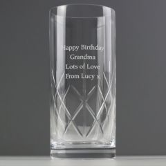 Personalised Cut Crystal Hi Ball Glass