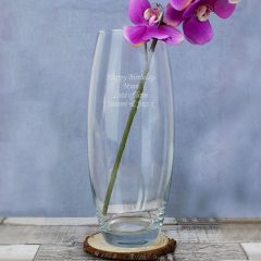 Personalised Tapered Glass Bullet Vase