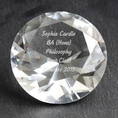 Personalised Diamond Shaped Paperweight