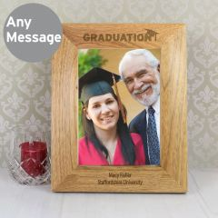 Personalised Graduation Wooden Photo Frame 7x5