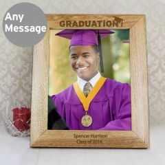 Personalised Graduation Wooden Photo Frame 10x8