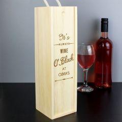 Personalised OClock Bottle Presentation Box