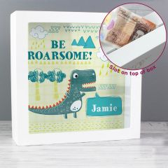 Personalised Dinosaur Design Fund and Keepsake Box