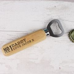 Personalised The No.1 Wooden Bottle Opener