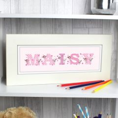 Personalised FAIRY Letter Design Name Frame