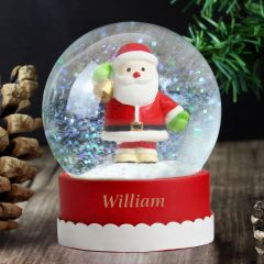 Personalised Magical Glitter Santa Snow Globe