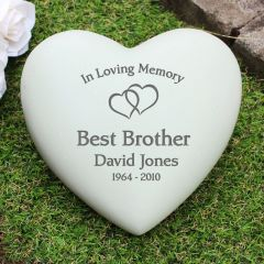 Personalised Floating Hearts Heart Memorial