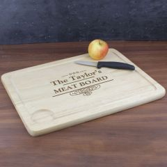 Personalised Decorative Swirl Design Meat Carving Board