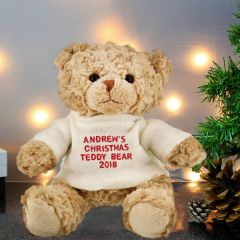 Personalised Christmas Message Bear